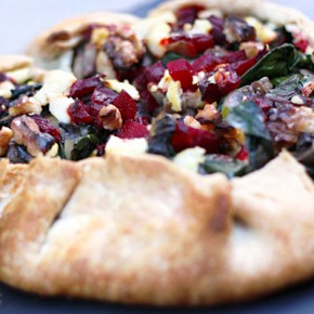 Beet, Greens & Mushroom Crostata Recipe: Sponsored by Sartori Cheese