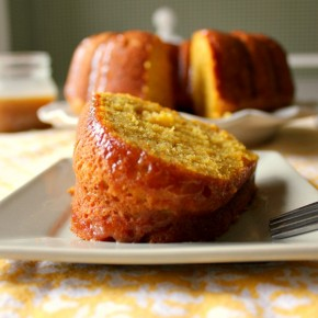 Pumpkin Bundt Cake with Salted Caramel Sauce Recipe